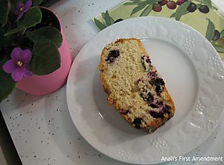 Chai blueberry bread mini